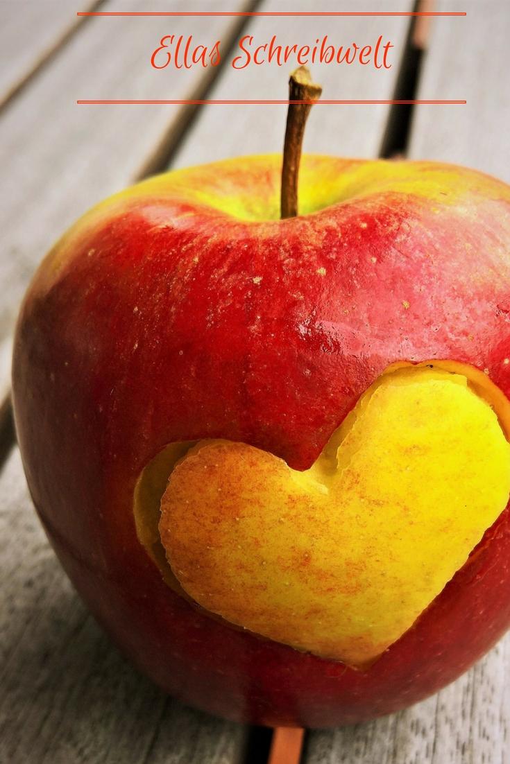 Apfel mit Herz Ellas Schreibwelt
