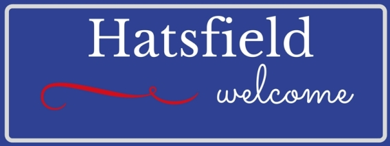 Hatsfield welcome sign Ellas Schreibwelt