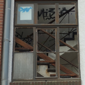 Treppe in der stillgelegten Lederfabrik Knecht Elmshorn, Ellas Schreibwelt