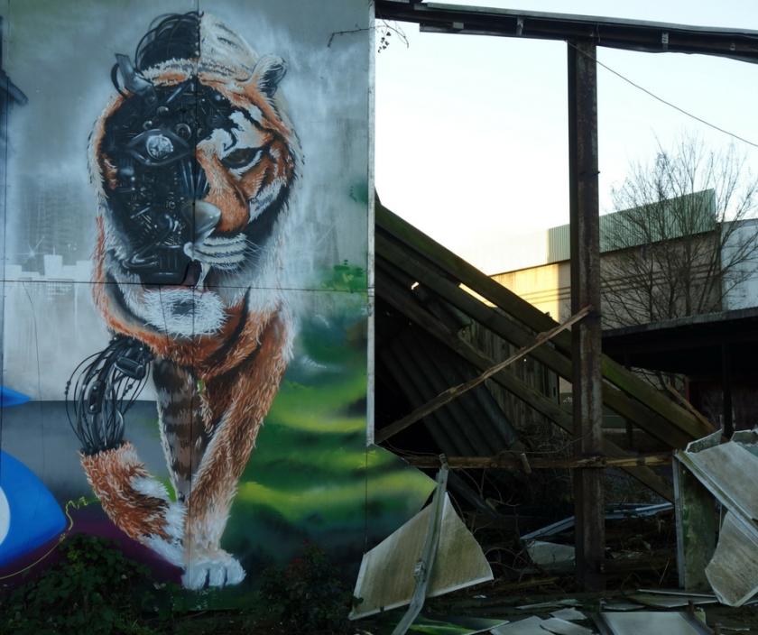 Graffiti Cyborg Tiger Elmshorn Knechtsche Hallen Ellas Schreibwelt
