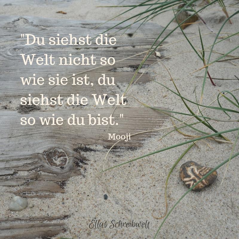 Zitat Mooji Logbuch Ellas Schreibwelt